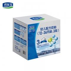 君乐宝乐铂1200克三联包量贩装3段12-36个月幼儿配方奶粉